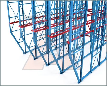 Apex Drive-in pallet racking illustration