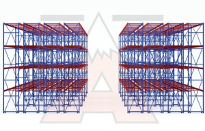 Apex Deep Reach Pallet Racking Illustration