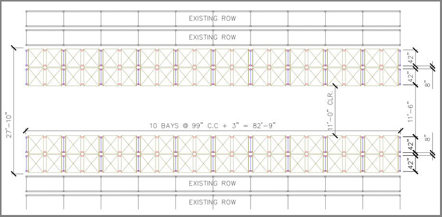 Apex Deep-Reach Pallet Rack Layout Image