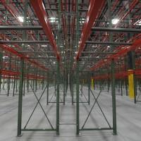 Industrial warehouse pallet shelving design