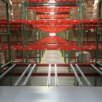 Industrial material handling shelving for warehouse