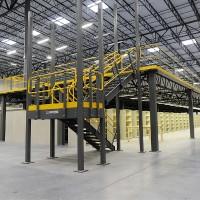 Warehouse mezzanine and stairs
