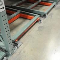 Warehouse industrial shelving push-back carts