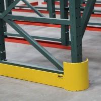 Warehouse shelving row end guard
