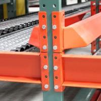 Warehouse shelving pallet flow guide