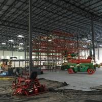 Shelving system material installation