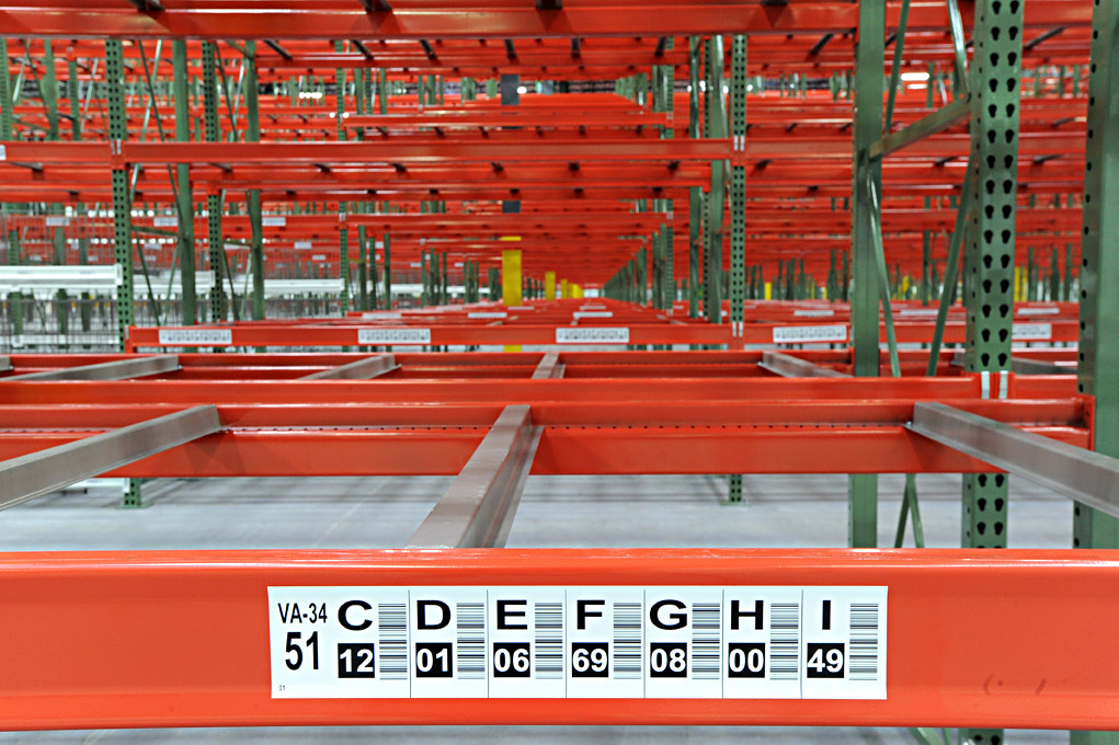 Warehouse racks for storage