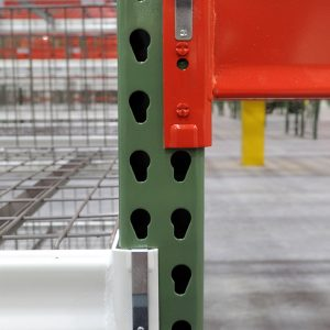 Welded warehouse shelving frame