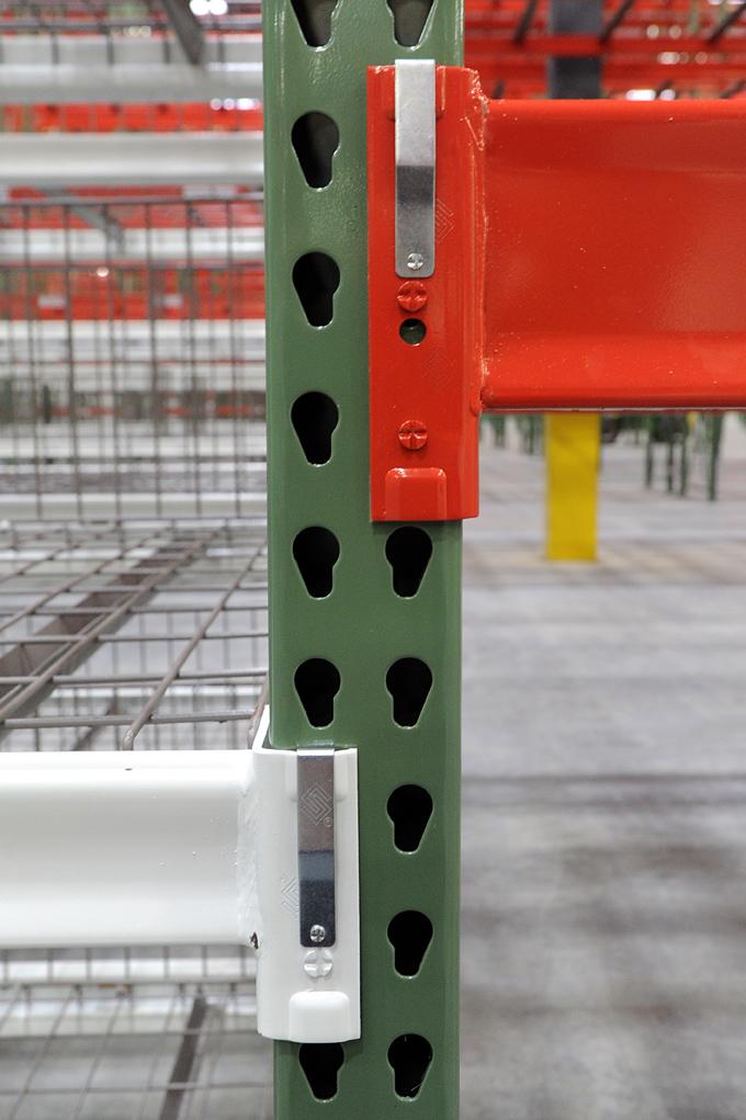 Welded warehouse shelving frame
