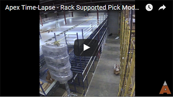 Apex rack supported pick module
