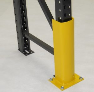 Floor-Mounted Pallet Rack Column Guard - Apex Warehouse Systems