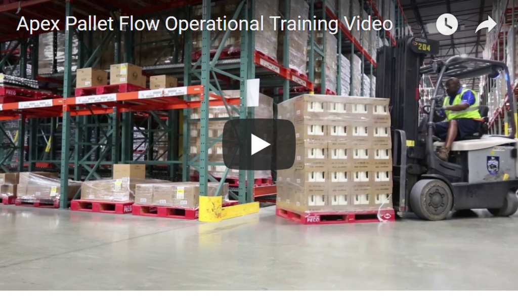 Apex Warehouse Systems Pallet Flow Forklift Training Video