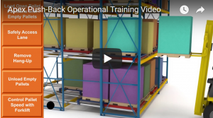 Push-Back Pallet Rack Forklift Instruction Apex Warehouse Systems