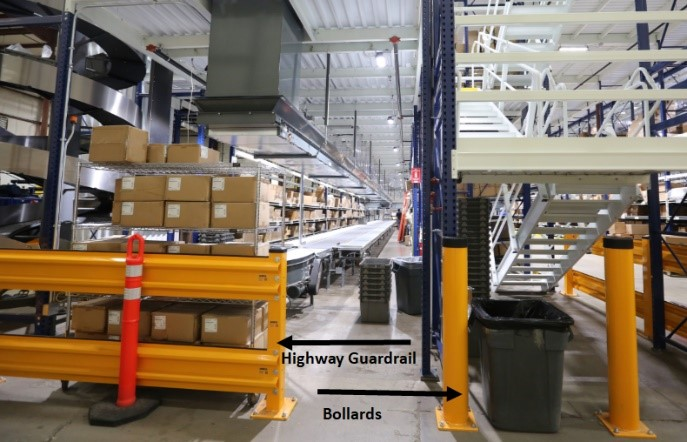 Warehouse Guardrails & Bollards